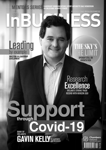 InBUSINESS Spring 2020 Cover Grayscale