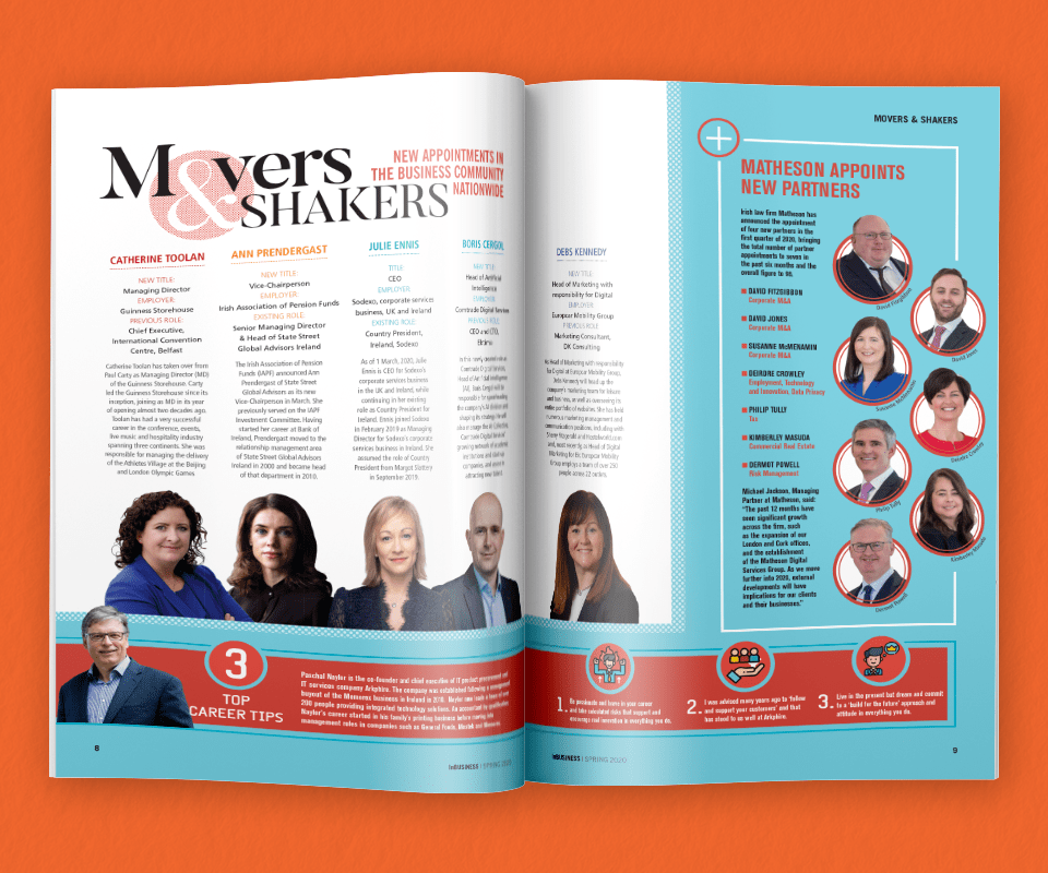InBUSINESS Spring 2020 Movers & Shakers