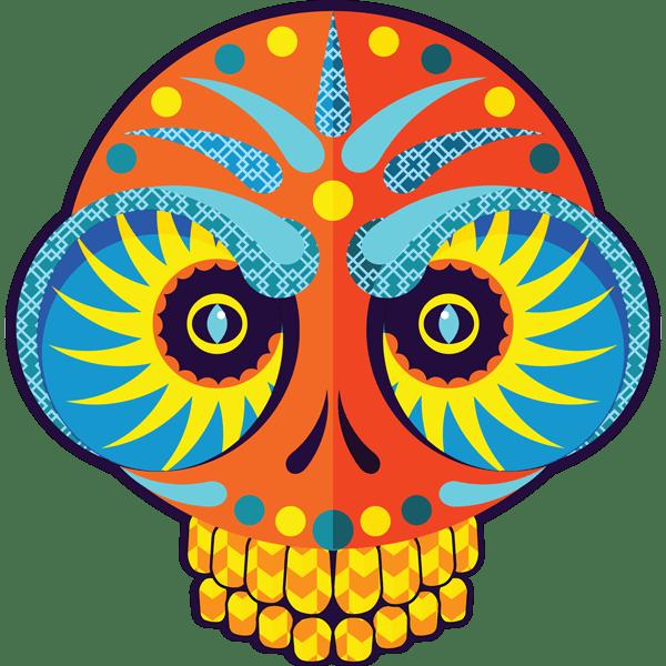 Blog Awards 2018 - Orange Skull