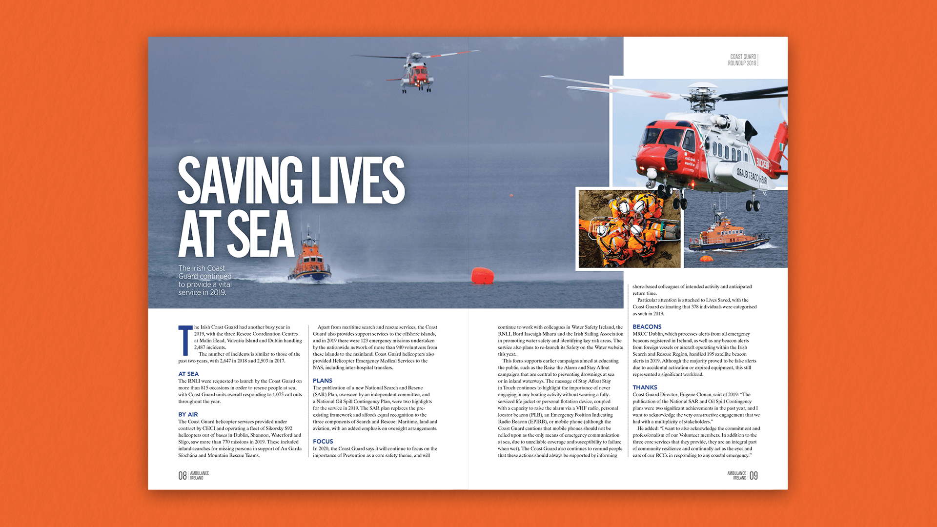 Ambulance Yearbook 2020 - Feature Spread