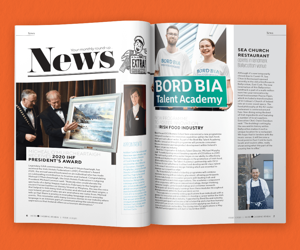 Hotel and Catering Review March 2020 News Spread A