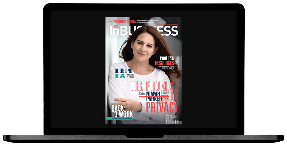 InBUSINESS Summer 2020 Laptop Cover